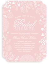 White on Kraft Bridal Shower Invitations