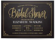 Diamond Chalkboard Bridal Shower Invitations