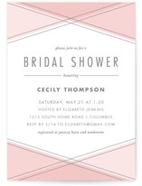 Crossing Paths Bridal Shower Invitations