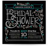 Mystique Bridal Shower Invitations