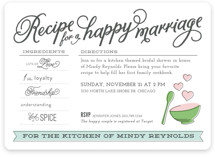 Recipe for Marriage Bridal Shower Invitations