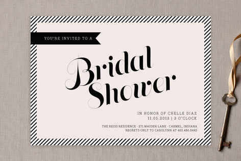 Posh Bridal Shower Invitations