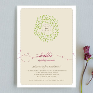 A Bride Wreath Bridal Shower Invitations