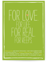 For Life For Love Bridal Shower Invitations