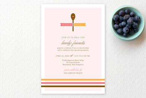 Gourmet Shower Bridal Shower Invitations