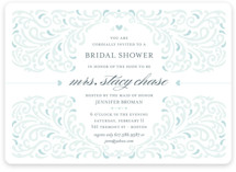 Elegant Piping Bridal Shower Invitations