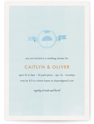 Weathered Bridal Shower Invitations