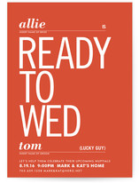 Ready to Wed Bridal Shower Invitations