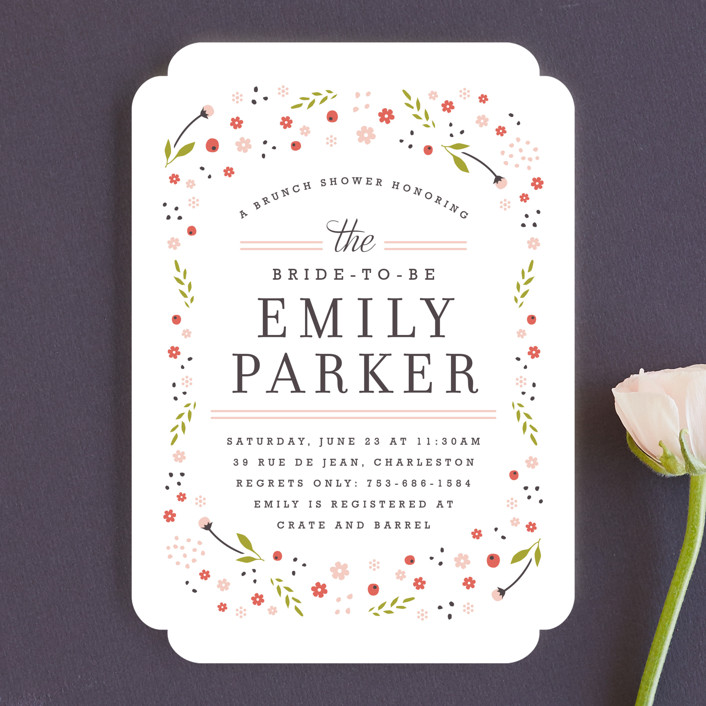 """""""Early Blooms"""" - Floral & Botanical Bridal Shower Invitations in Petal by Kristie Kern."""