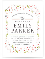 Early Blooms Bridal Shower Invitations