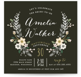 Wildflower Crest Bridal Shower Invitations