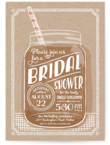 Summer Sippin' Bridal Shower Invitations