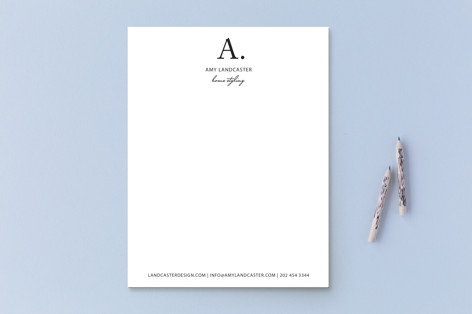 Initial then Period Business Stationery