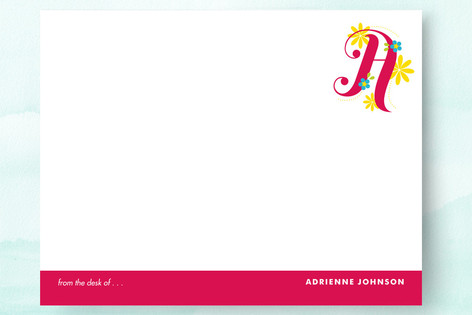 Floral Monogram Business Stationery