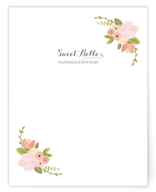 Rustic Floral Business Stationery Cards