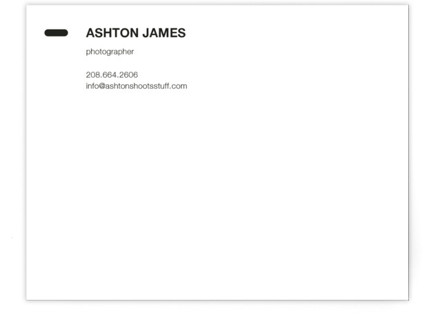 Manual Business Stationery Cards