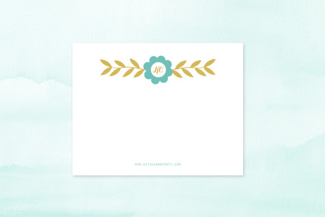 folksy floral Business Stationery
