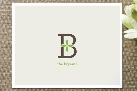 Family Monogram Business Stationery