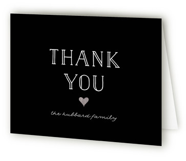 A Little Heart Foil-Pressed Birth Announcement Thank You Cards