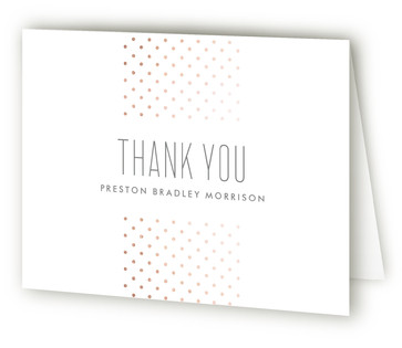 Cascade Foil-Pressed Birth Announcement Thank You Cards