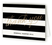 Fancy Hello Foil-Pressed Birth Announcement Thank You Cards