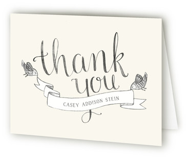 Hello Birdie Birth Announcements Thank You Cards
