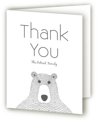 Teddy Birth Announcements Thank You Cards