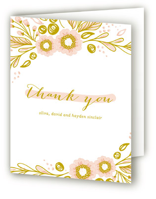 Welcome Flora Birth Announcements Thank You Cards