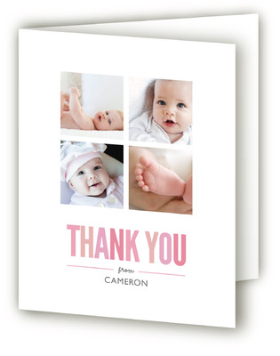 Mosaic Moniker Birth Announcements Thank You Cards