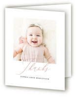 Happy Baby Birth Announcements Thank You Cards