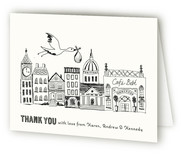 Vintage Storybook Birth Announcements Thank You Cards