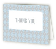 Argyle Welcome Birth Announcements Thank You Cards
