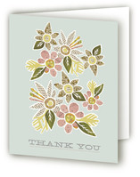 Heirloom Bloom Birth Announcements Thank You Cards