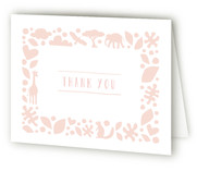 Petite Jungle Frame Birth Announcements Thank You Cards