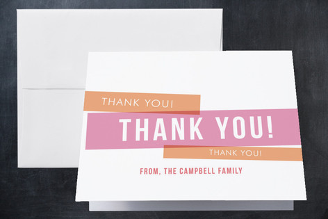 Bold Babe Birth Announcements Thank You Cards