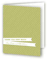 Paper Clipped Flags Birth Announcements Thank You Cards