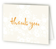 Vintage Eyelet Birth Announcements Thank You Cards