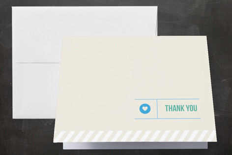 Khaki Baby Birth Announcements Thank You Cards