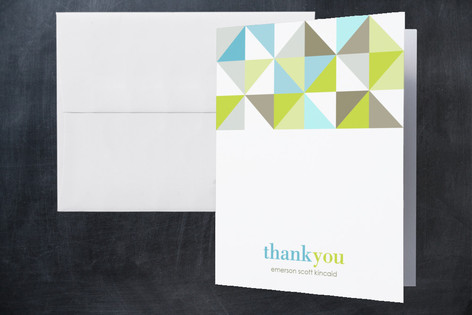 Mod Squad Birth Announcements Thank You Cards