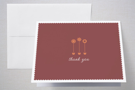 Little Blooms Birth Announcements Thank You Cards