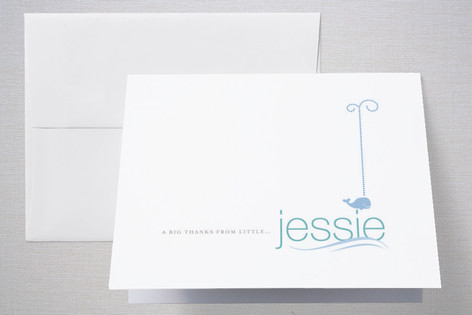 modern splash Birth Announcements Thank You Cards