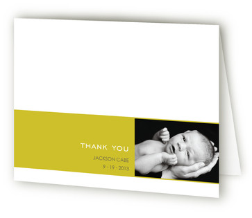 Simple Welcome Birth Announcements Thank You Cards