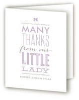 Little Lady Birth Announcements Thank You Cards
