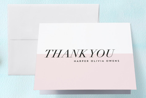 Modern Mini Birth Announcements Thank You Cards