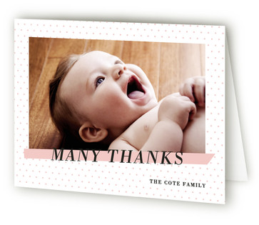 Crib Sheet Birth Announcements Thank You Cards