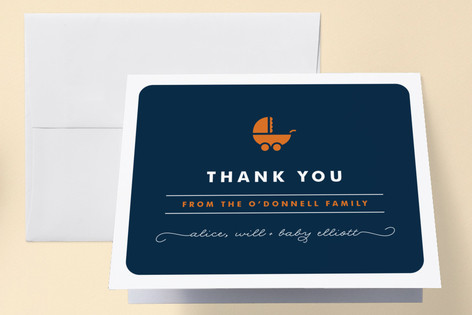 Buggy Birth Announcements Thank You Cards