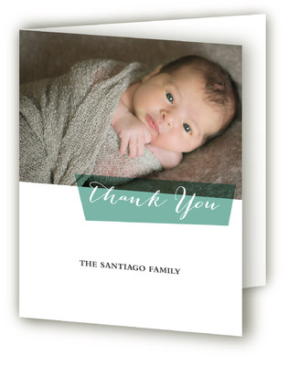 Blocked Blessed Birth Announcements Thank You Cards