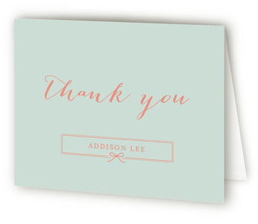 Petite Bow Birth Announcements Thank You Cards