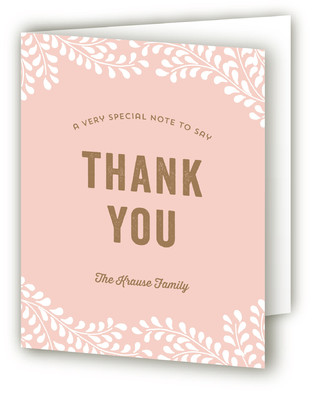 Sweet Nature Birth Announcements Thank You Cards