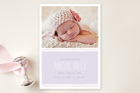 Dainty Birth Announcements
